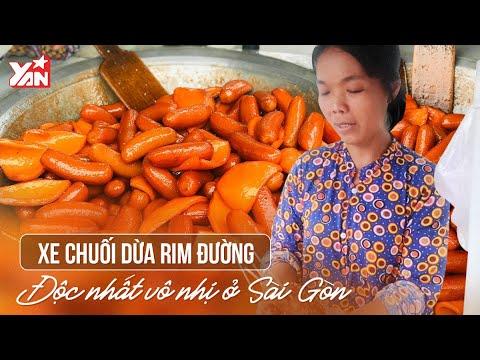 Xe Chuối Dừa Rim Đường Độc Nhất Vô Nhị Ở Sài Gòn | Món Ngon Yan Food
