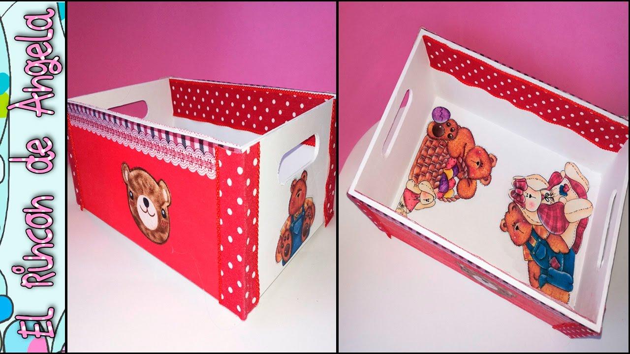 Decoupage con tela como decorar una caja con pintura - Decorar cajas de madera con papel ...