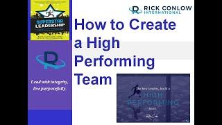 Hoe Creëer je een High Performance Team-Leiderschap Training