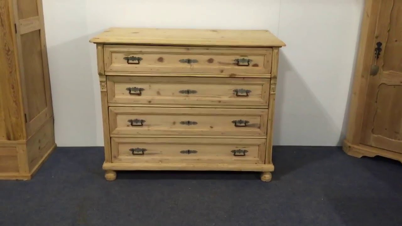 Large Antique Pine Chest Of Drawers For Sale Pinefinders Old Pine Furniture Warehouse Video Youtube