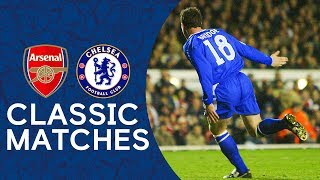 Wayne bridge's late goal stunned arsenal and sent chelsea into the champions league semi-finals.download fc's official mobile app:-app store https://...