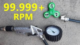99999+ RPM Fidget Spinner With COMPRESSOR