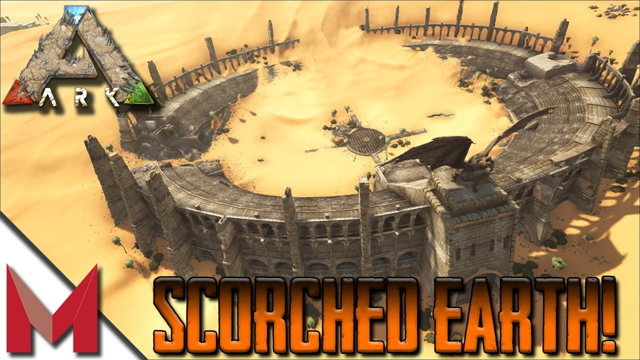 SCORCHED EARTH MAP TOUR / MANTIS  =  ARK: SCORCHED EARTH GAMEPLAY