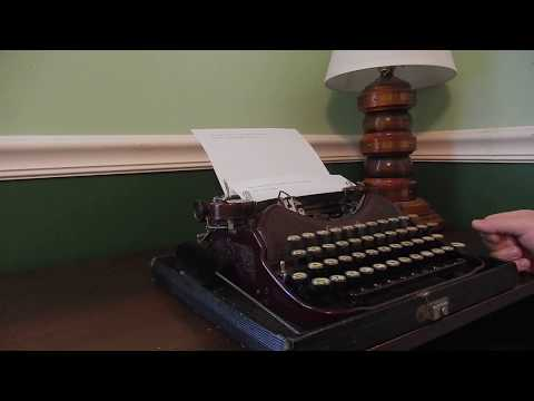 1931 Corona Four portable typewriter
