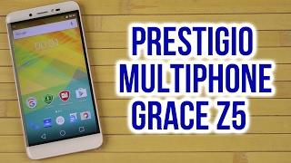 Распаковка Prestigio MultiPhone Grace Z5 5530 Duo Rose Gold