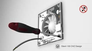 видео Вытяжной вентилятор Soler & Palau SILENT-100 CHZ DESIGN 8 Вт SILVER с таймером, датчиком влажности, обратным клапаном купить в магазине Z-Plus.RU