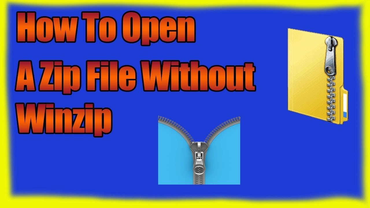 How to Open ZIP/RAR/7Z Files in Windows 10 without WinZip