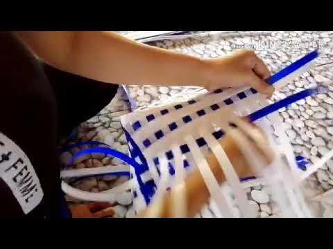 สำหรับมือใหม่หัดสาน   สอนสานตะกร้าแบบละเอียด   ตะกร้าสีง่ายๆแต่สวย