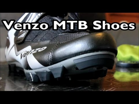 Venzo Mountain Bike Shoes And Pedals Unboxing Review Install
