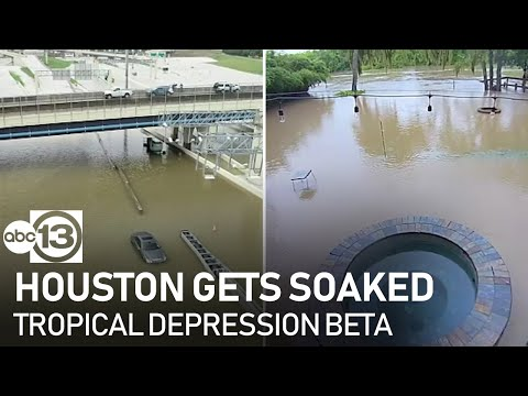 Many parts of Houston underwater as rainfall continues
