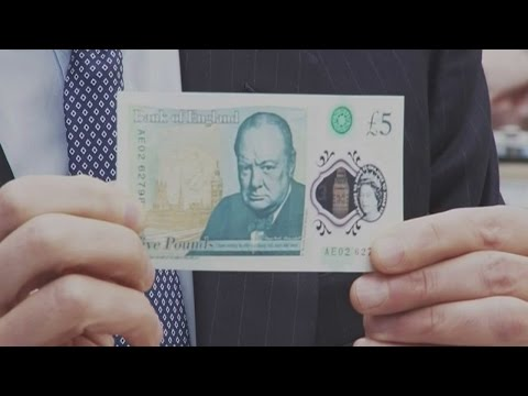 Bank of England unveils untearable plastic £5 note