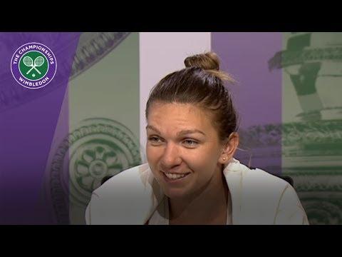 Simona Halep Wimbledon 2017 fourth round press conference