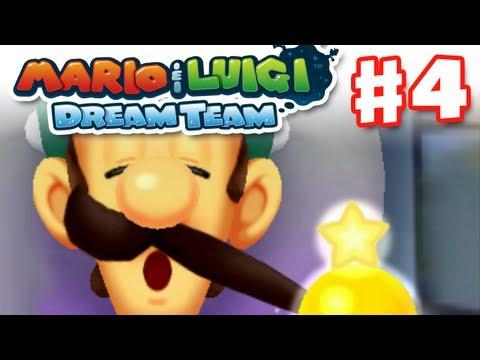 Mario & Luigi: Dream Team - Gameplay Walkthrough Part 4 - Luigi's Mustache (Nintendo 3DS)