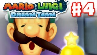 Mario & Luigi: Dream Team - Gameplay Walkthrough Part 4 - Luigi