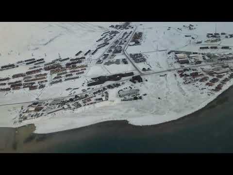 Landing at Longyearbyen airport on Svalbard