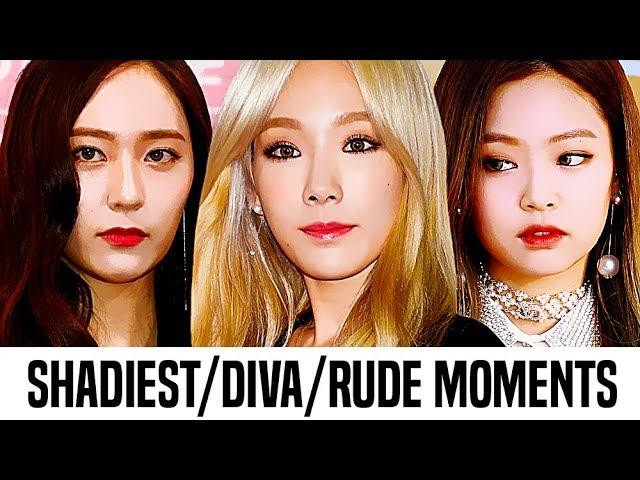 Kpop Female Idols Shadiest/Diva/Rude Moments   Part 1