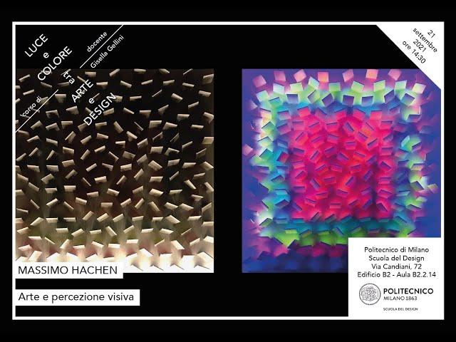 Luce e Colore tra Arte e Design | Massimo Hachen - Arte e percezione visiva