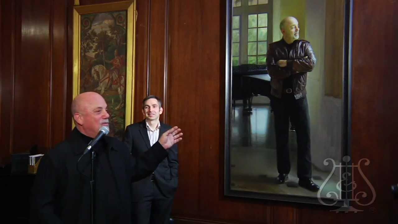 Billy Joel's Portrait now hangs in Steinway Hall: