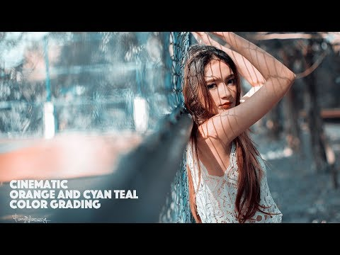 Photoshop Tutorial Orange and Cyan Teal Color Grading thumbnail