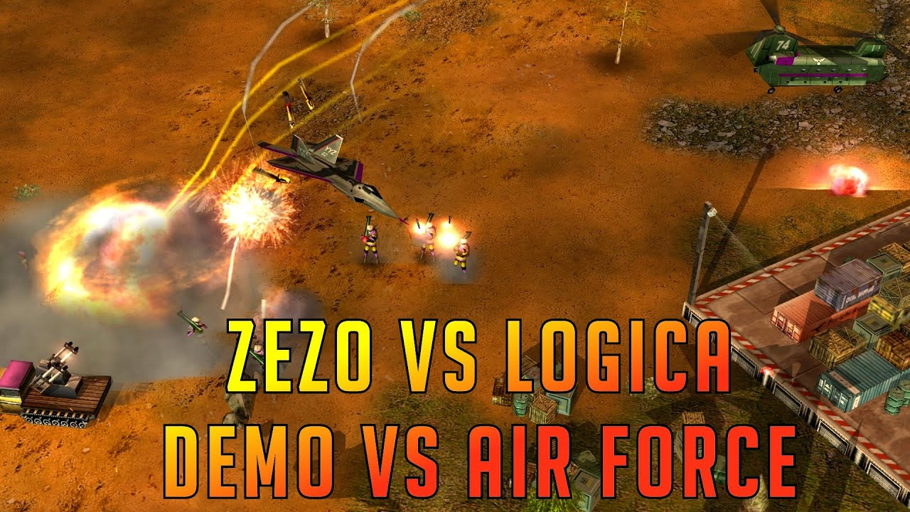 ZeZo (Demo) vs Logica (Air Force) - Canyon of the Dead - Command and Conquer Generals Zero Hour