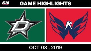 dallas Stars vs Washington Capitals  Oct.08, 2019  Game Highlights  NHL 2019/20  Обзор матча