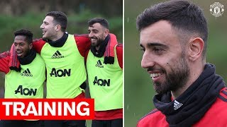 Bruno Fernandes39 First Training Session  Manchester United v Wolves  Premier League 201920