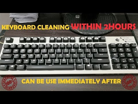 Dusty Mechanical Keyboard Cleaning Within 2 Hours (PROVEN)