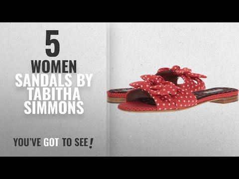 Top 5 Tabitha Simmons Women Sandals [2018]: Tabitha Simmons Women's Cleo Polka Red/Black/White Polka