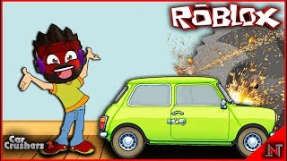 ROBLOX indonesia #156 Car Crushers 2 | Ancurin Mobil Mr.Bean...KUTILFANS MAH BEBAS