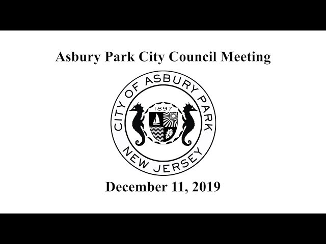 Asbury Park City Council Meeting - December 11, 2019