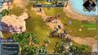 Age Of Empires Online Walkthrough - Pt.201 Greek - Defeat Marion (iii)