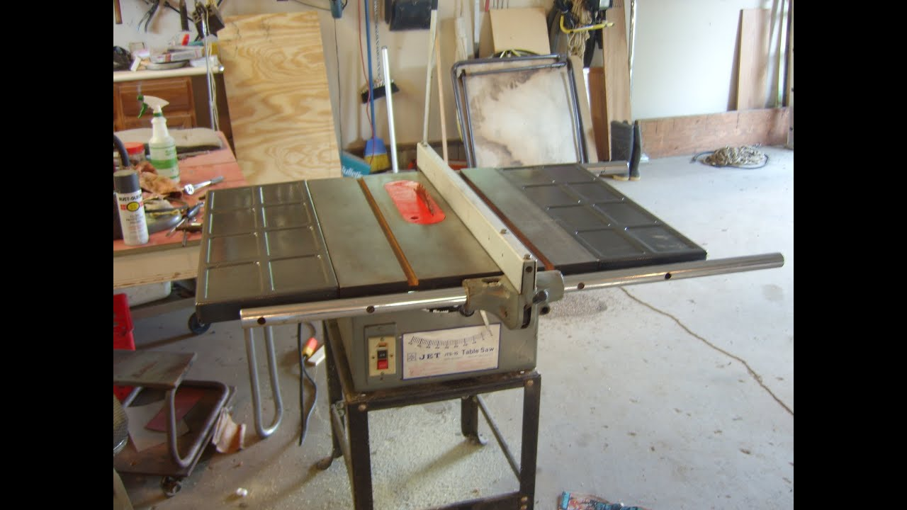 Jet jts 10 this old table saw finished youtube for 10 jet table saw