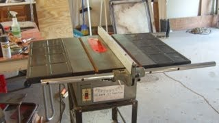 Jet JTS 10, This old table saw, finished