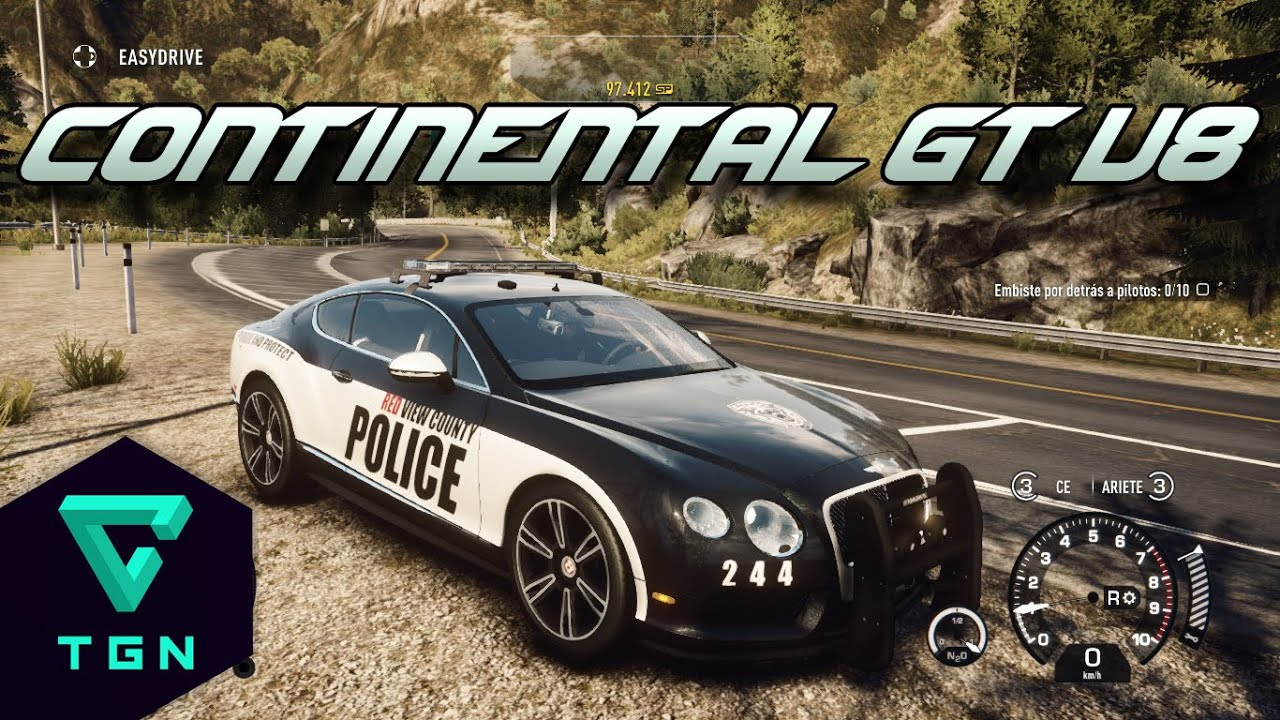 Need for speed Rivals: Bentley Continental GT V8 Cop ...
