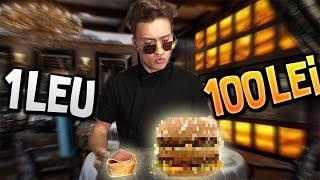 SANDWICH DE 1 LEU VS SANDWICH DE 100 DE LEI ! (care e mai bun?)