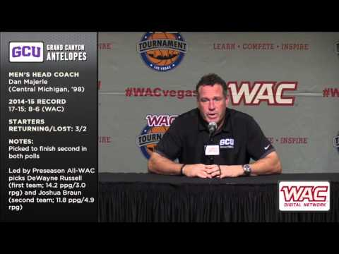 2015-16 WAC Basketball Preview - Dan Majerle, Grand Canyon