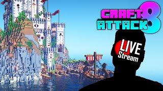 🔴 Minecraft Bauen uฑd Quatschen - natürlich mit Kamera🔨 Craft Attack 8 Live