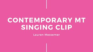 Contemporary MT Singing Clip – Ready to Be Loved