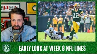 NFL Week 8 Lines Early Look, Picks, Betting Advice | Pick Six Podcast