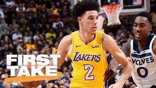 First Take reacts to Lonzo Ball's Lakers preseason debut   First Take   ESPN