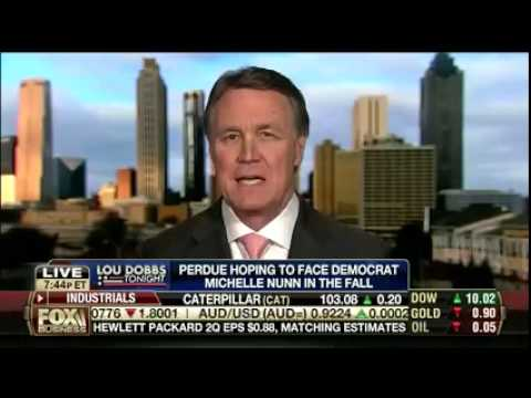 David Perdue Fox Business Interview with Lou Dobbs
