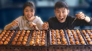 We Tried To Make 200 Octopus Balls In 10 Minutes • Tasty
