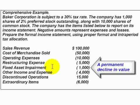 Accounting Lecture 17 - Corporate Income Statement - YouTube