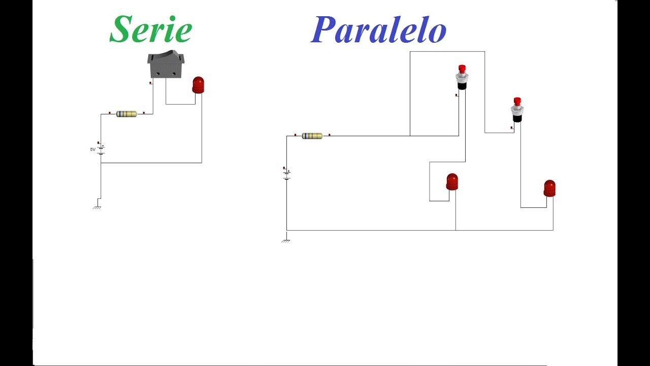 conectar leds en serie y en paralelo  explicado con su diagrama