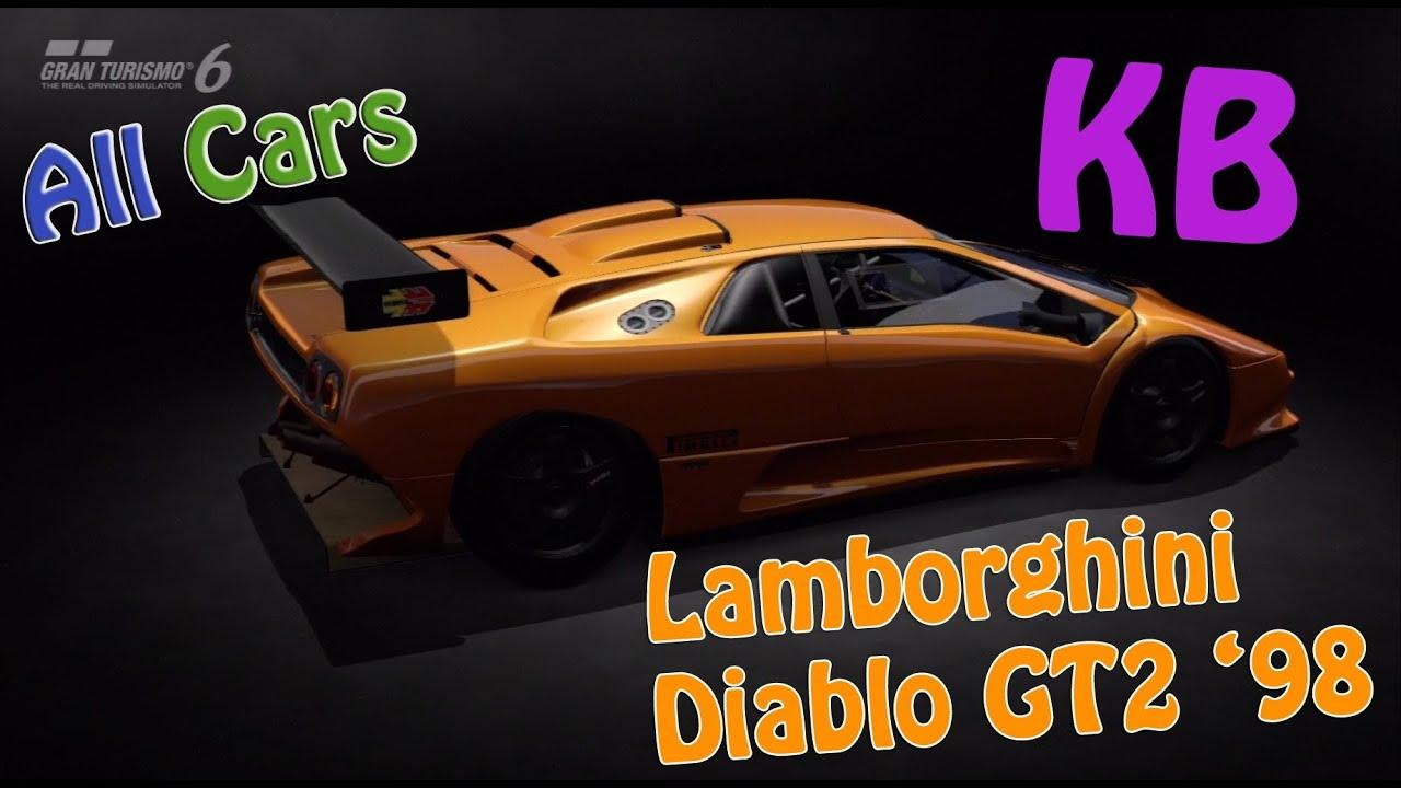 Lamborghini Diablo Gt2 98 Top Speed And Test Gt6 Youtube