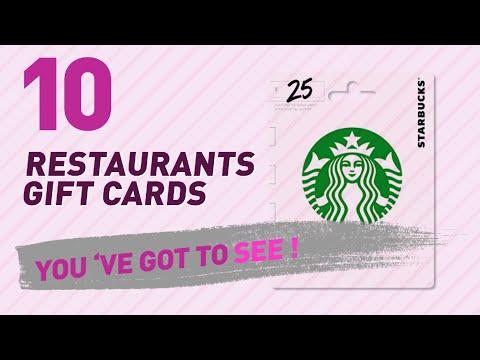 Restaurants Gift Cards // New & Popular 2017