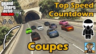 Fastest Coupes - Top Speeds Of Fully Upgraded Cars In GTA Online