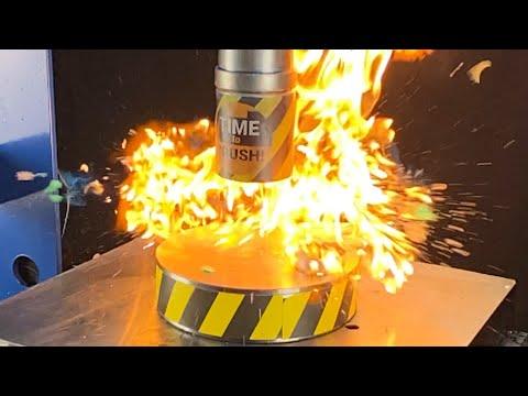 Was passiert, wenn Sie einen Zünder unter hydraulische Press
