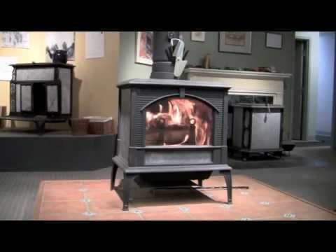 Lighting a Woodstock Soapstone Keystone Woodstove - Lighting A Woodstock Soapstone Keystone Woodstove - YouTube