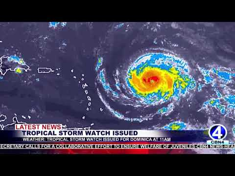 WEATHER UPDATE TROPICAL STORM WATCH ISSUED FOR DOMINICA AT 11AM